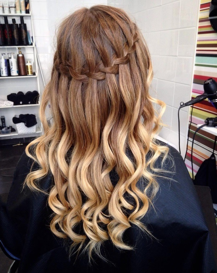 Bored of regular braids? Try a waterfall hairstyle this season