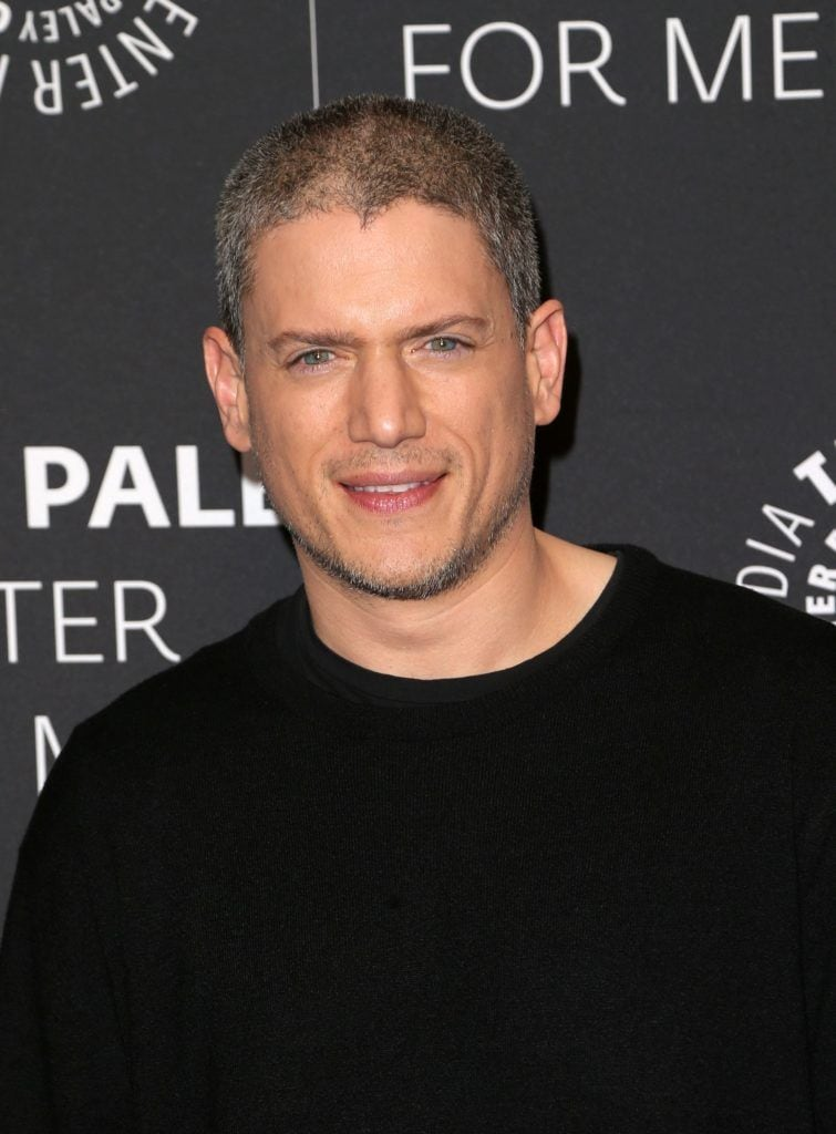 Wentworth Miller with a buzzcut hairstyle