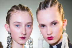 cornrow braids on the andrew gn runway paris fashion week hair