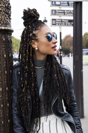braided hairstyles: hair braid ideas to try like a half up bun