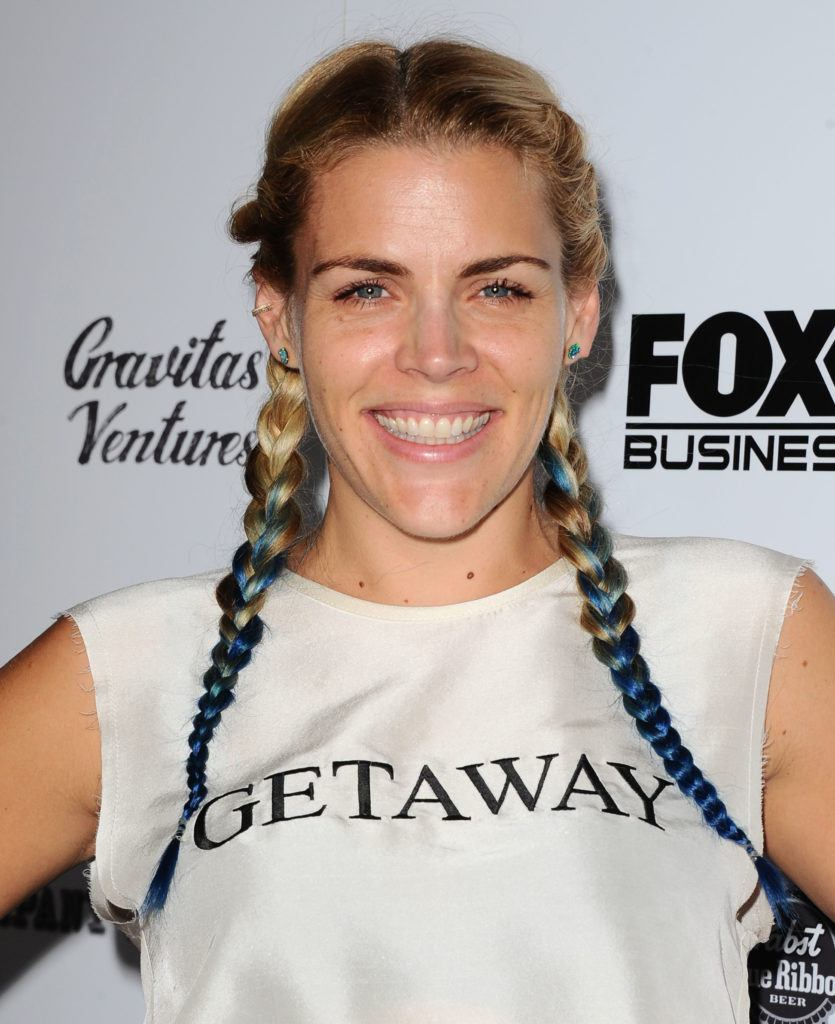 It takes two celebrity inspired 2 braids hairstyles you should try 2 braids hairstyles shown by busy philipps ombre look urmus Images