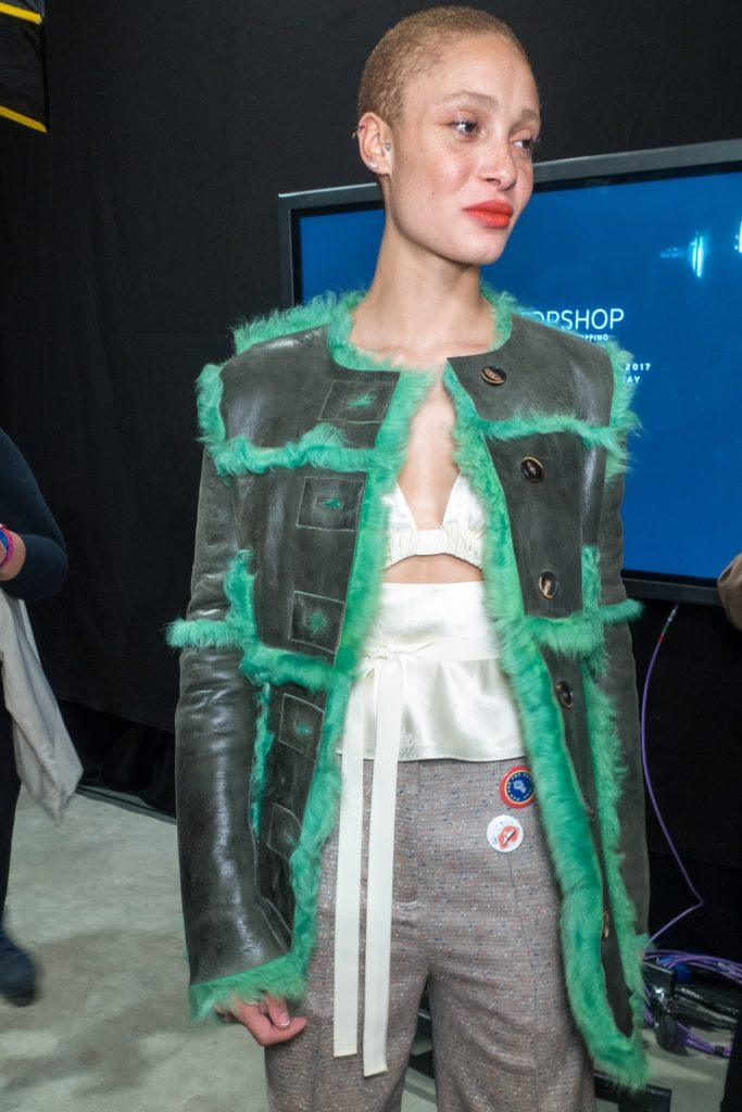 pictures of short haircuts: the buzz cut as demonstrated by topshop model backstage