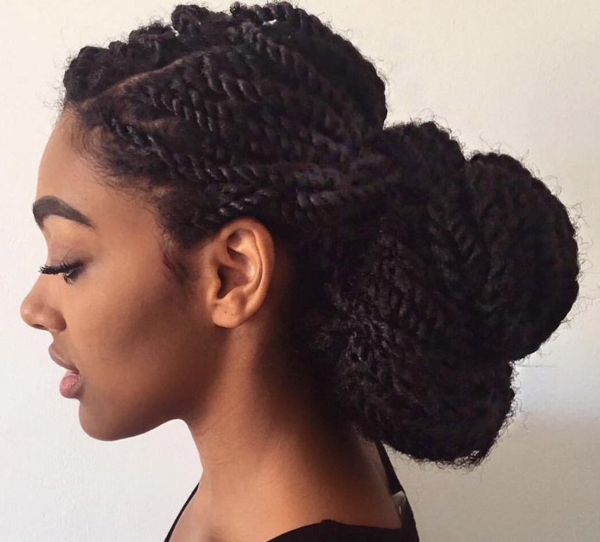 Close Up Of Vlogger Curlbella With Marley Twists Updo