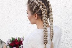 Blonde double Dutch braids - Instagram - step by step double dutch braid guide
