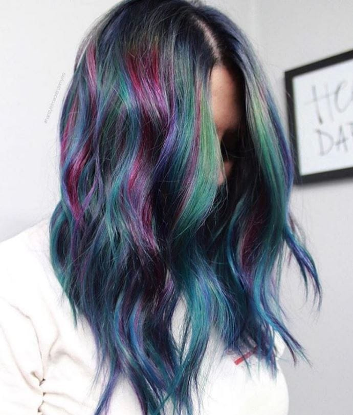 Stunning geode hair colour trend - Instagram