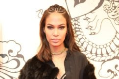tree braid pictures: joan small with cornrow braid and lob haircut at fenty puma