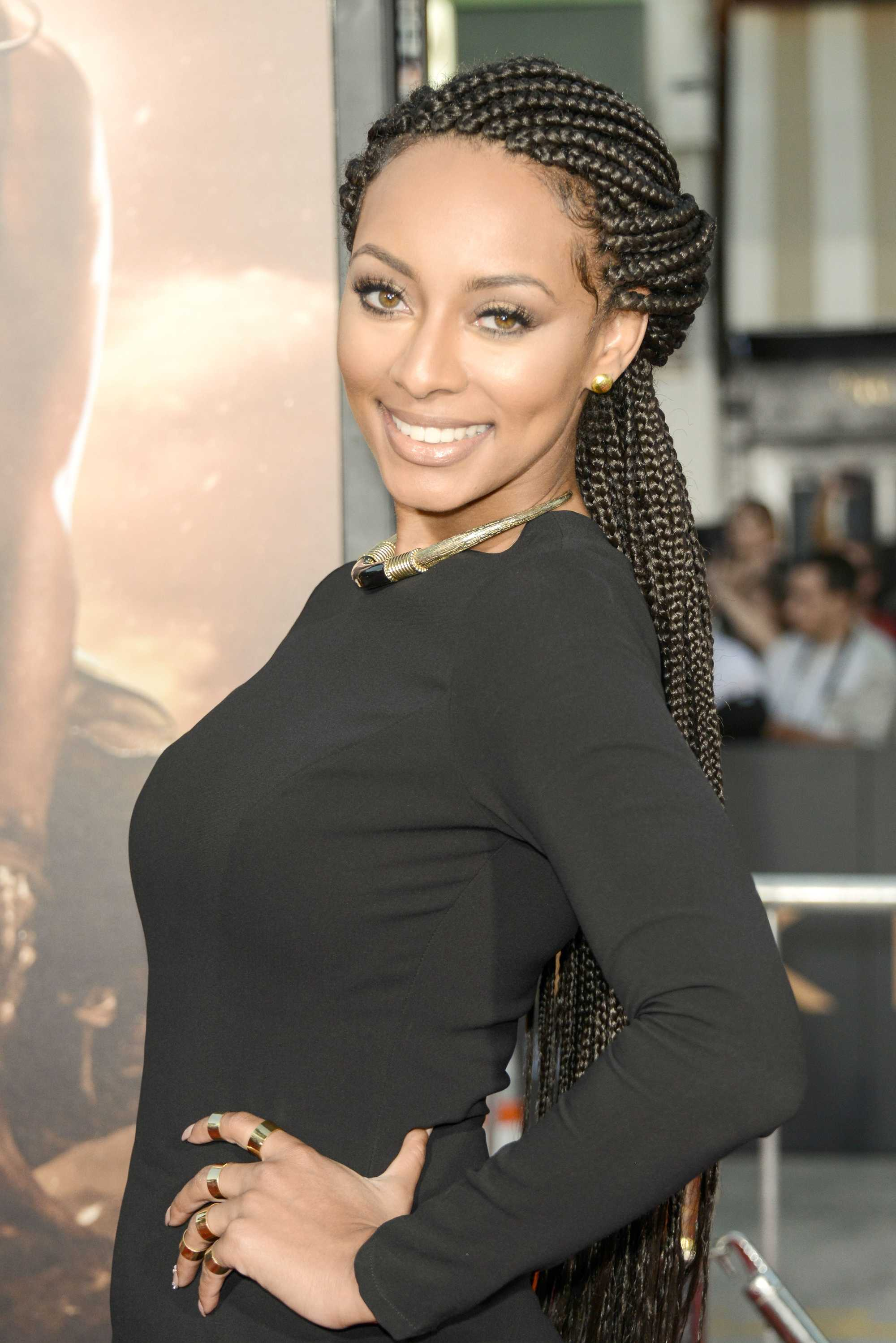 Keri Hilson With Poetic Justice Braids Styled Into A Half Up Hairstyle Red  Carpet