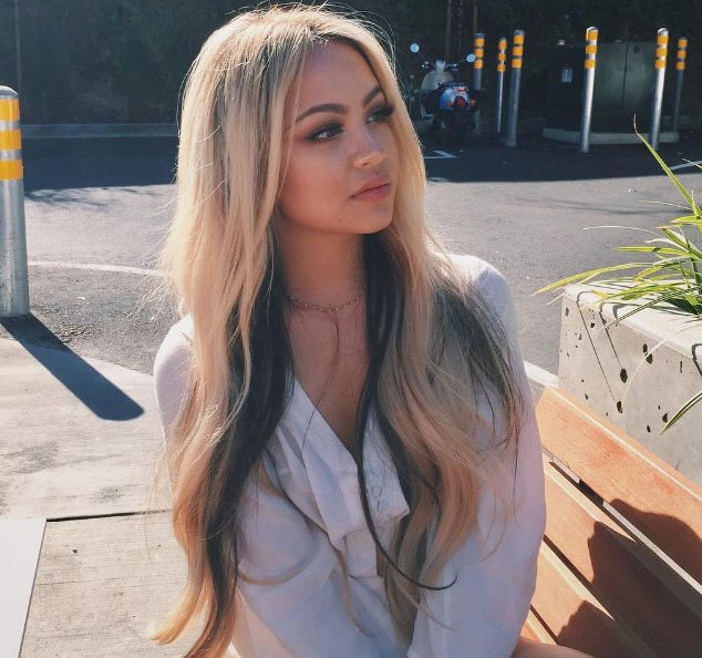 woman with long blonde hair for spring