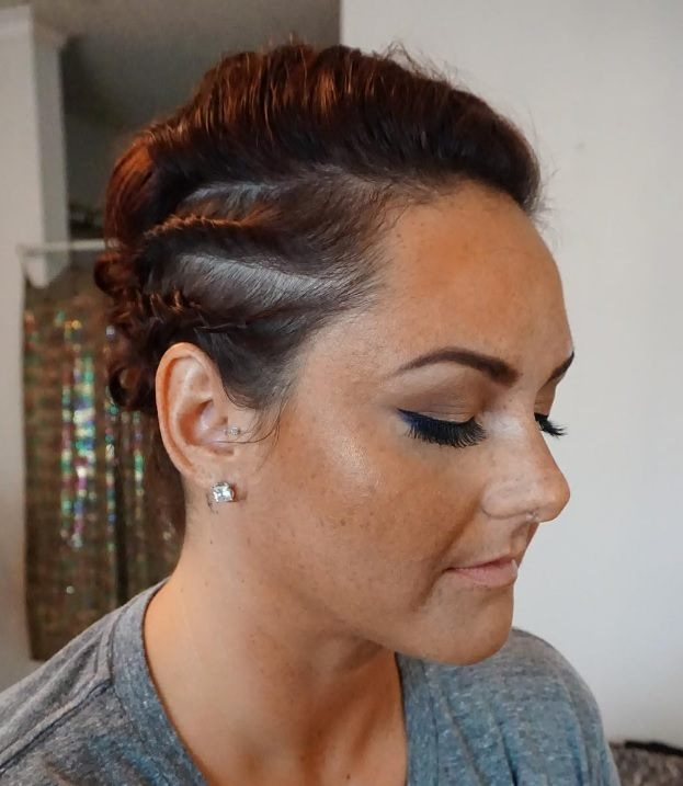 Short Punk Hairstyles Braided Updo