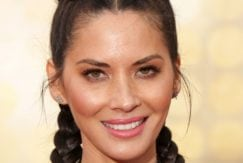olivia munn with a dutch 2 braid hairstyles