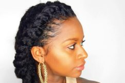 twist hairstyles for natural hair: twisted side braid
