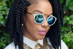 simsimstyles with short bob box braids a line haircut