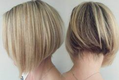 blonde bob stacked haircut