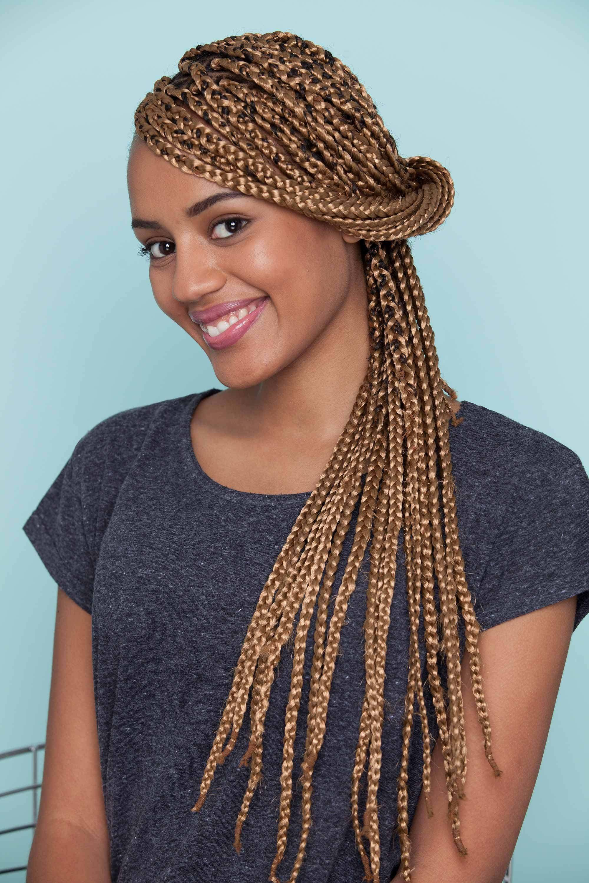 Coloured Braids 24 Box Braids Plaited Styles With Trendy Hues