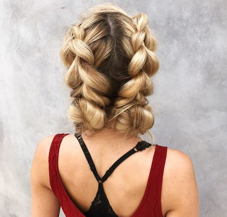 Double Dutch braids - hairstyles for long blonde hair - Instagram