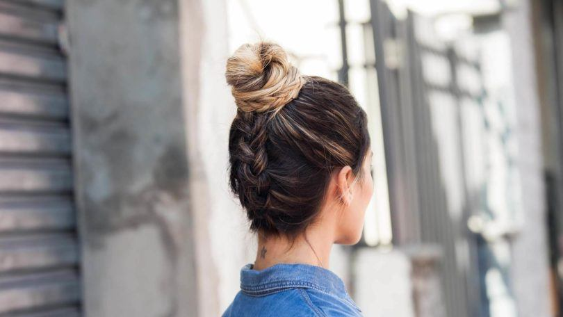 How to create a braided top knot: Hair tutorial