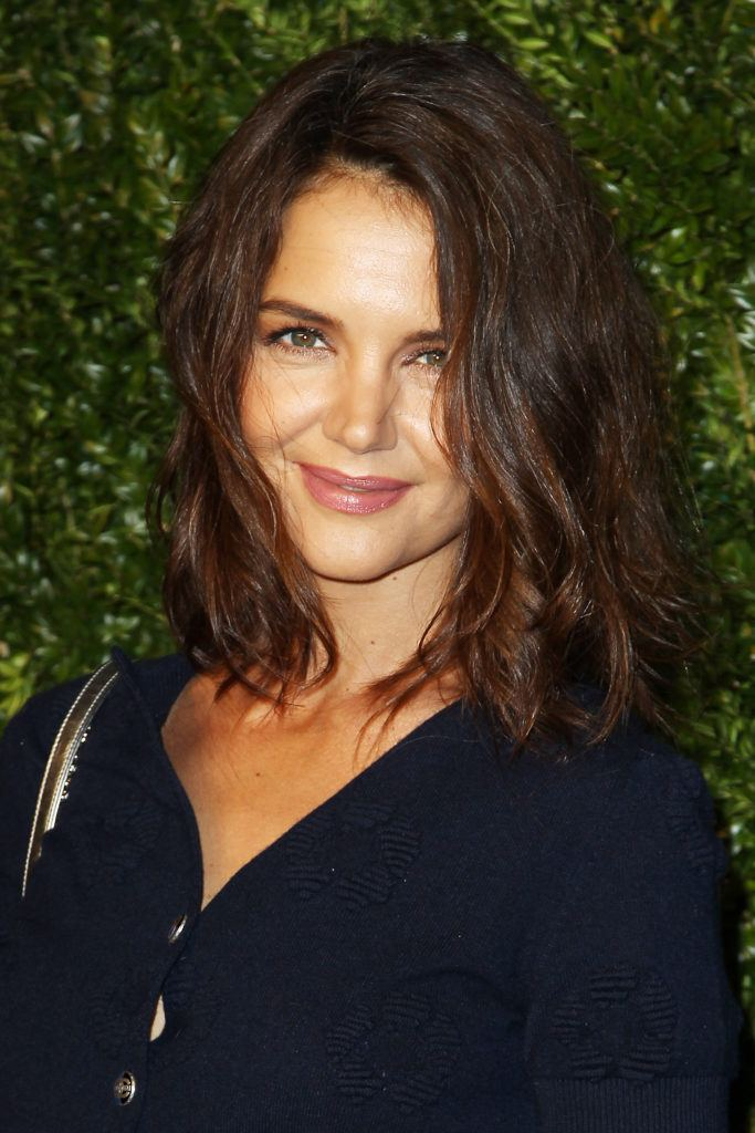 Katie Holmes' wavy Lob at the 2017 Chanel Tribeca Film Festival Artists Dinner