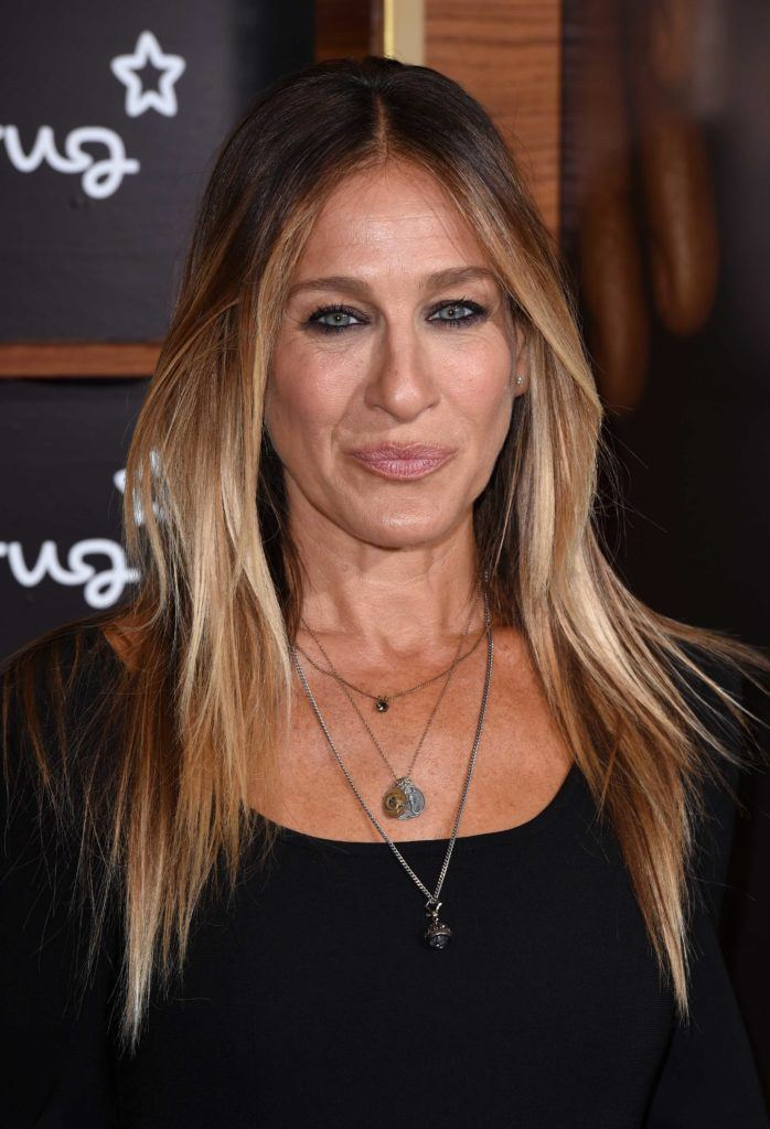 Sarah Jessica Parker with long ombre balayage hair