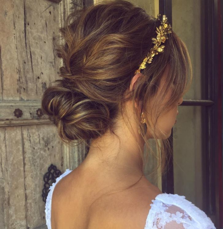 Beautiful Bridesmaid Hairstyles You Should Know About - Croissant hairstyle bun