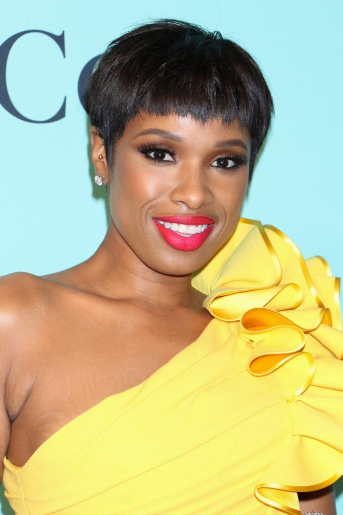 Jennifer Hudson - 2017 - Dark pixie cut and fringe hair
