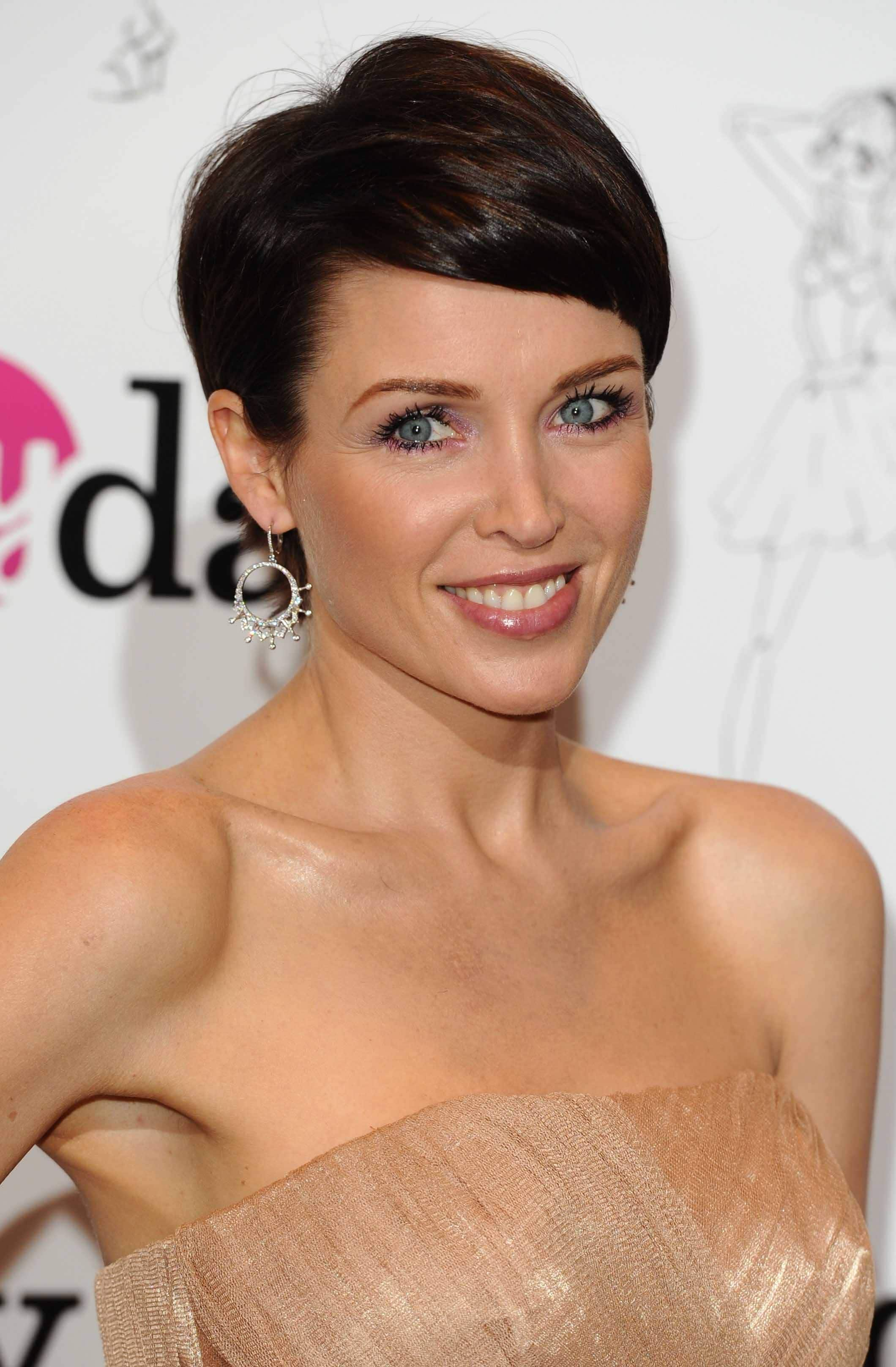 Pixie crop hairstyles Dannii Minogue. Credit Rex by Shutterstock