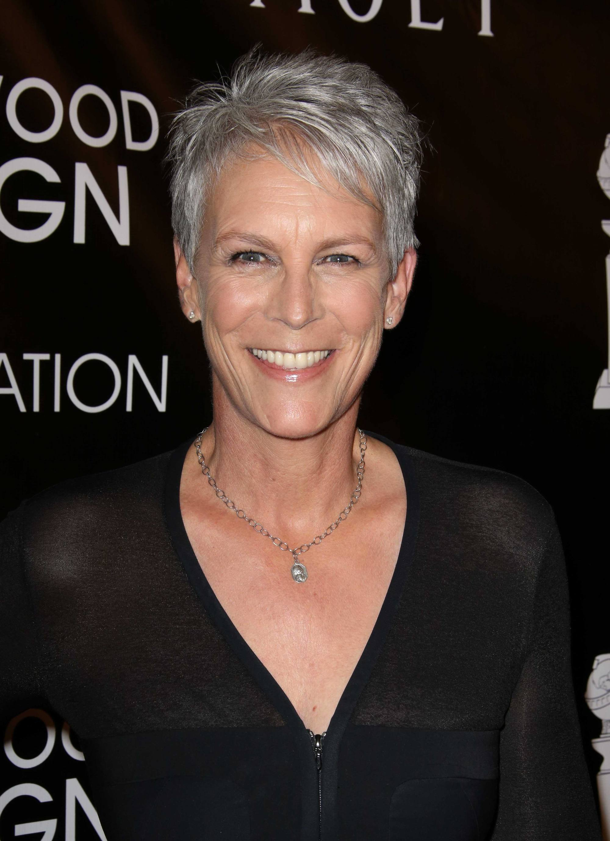 Pixie cut - Silver pixie hair - Jamie Lee Curtis. Credit Rex by Shutterstock
