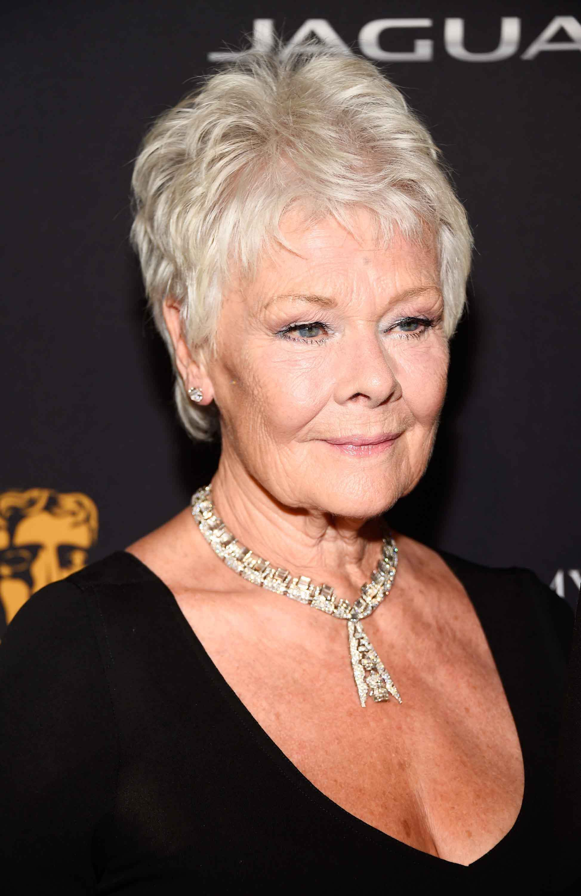 Pixie hairstyles Judi Dench. Credit Getty Images
