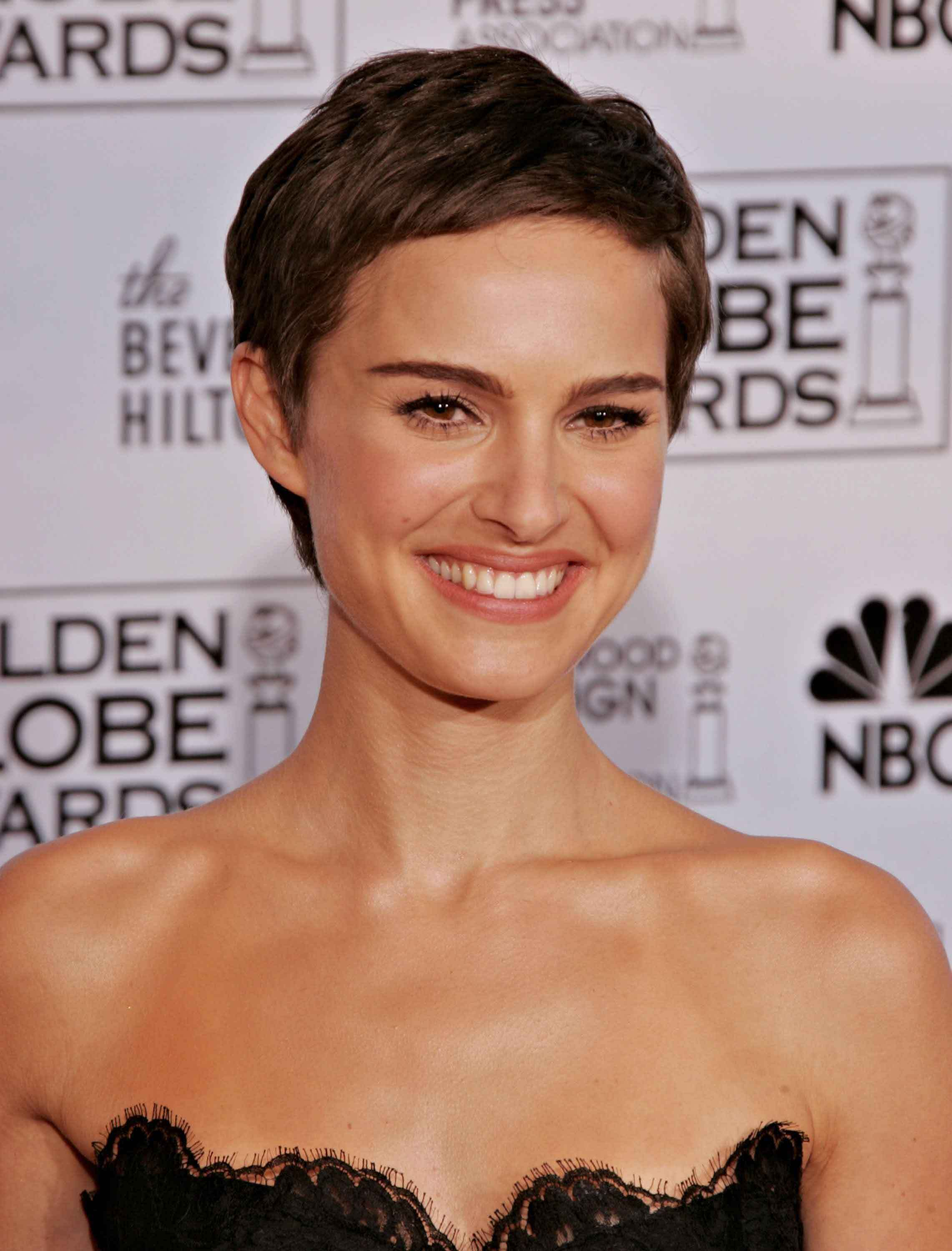 Pixie hairstyles Natalie Portman. Credit Getty Images