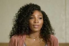serena williams with curly crochet braids