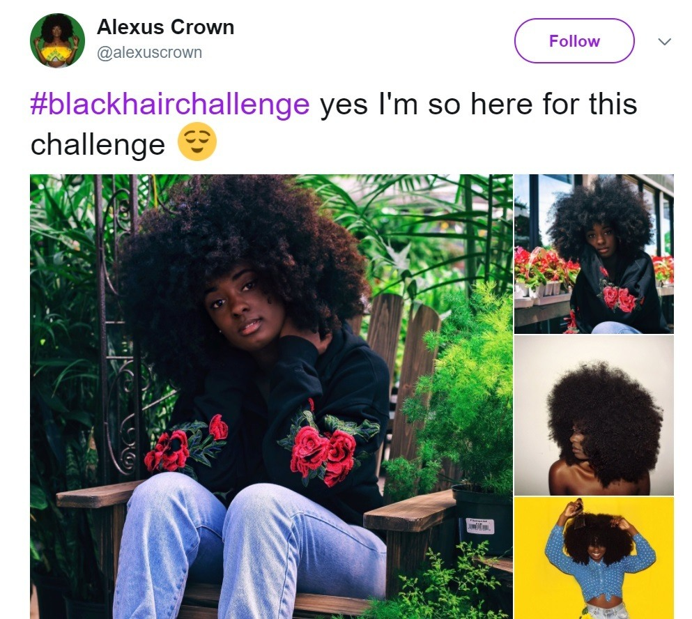 blackhairchallenge: alexuscrown with her natural hair