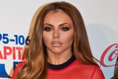 jesy nelson with ginger hair wearing red sheer top at capital jingle bell ball