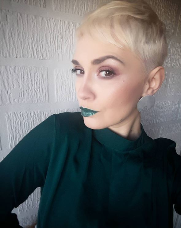 Face shapes - short bleach blonde pixie hair with clipped sides