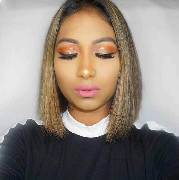 Ombre blonde pob Instgrammer with straight sleek bob