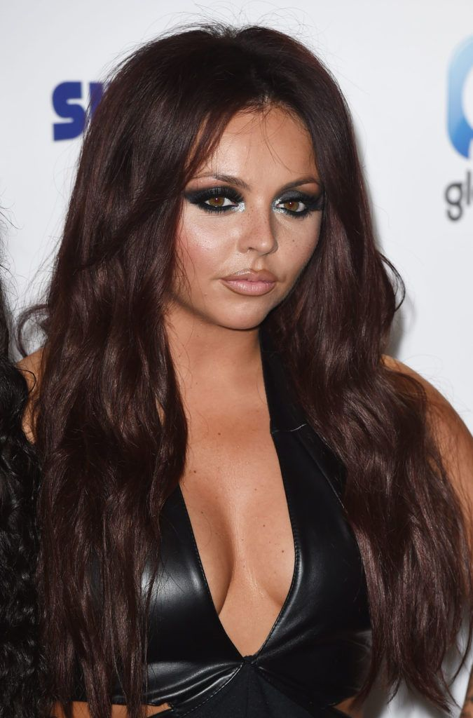 jesy nelson with chocolate brown hair at capital summertime ball