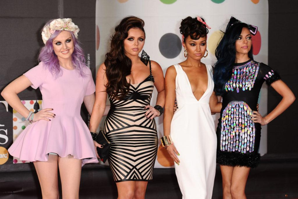 jesy nelson with side hairstyle at brit awards with little mix girls