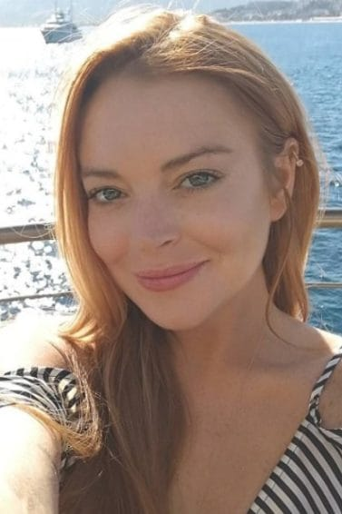 lindsay lohan with her trademark long ginger hair