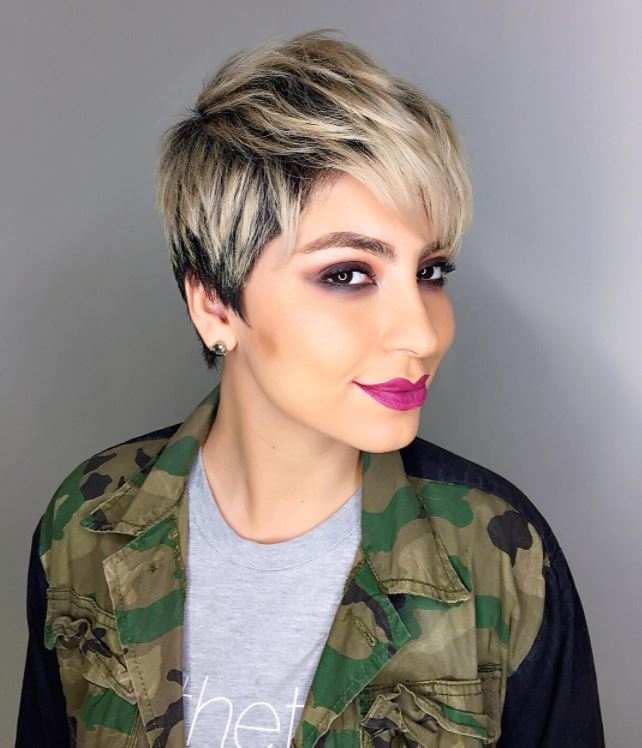 Face shapes - short pixie with spikey layers