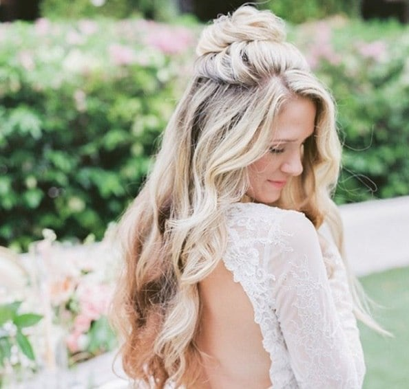 Picture Of Wedding Hairstyles Half Up Down With Curls