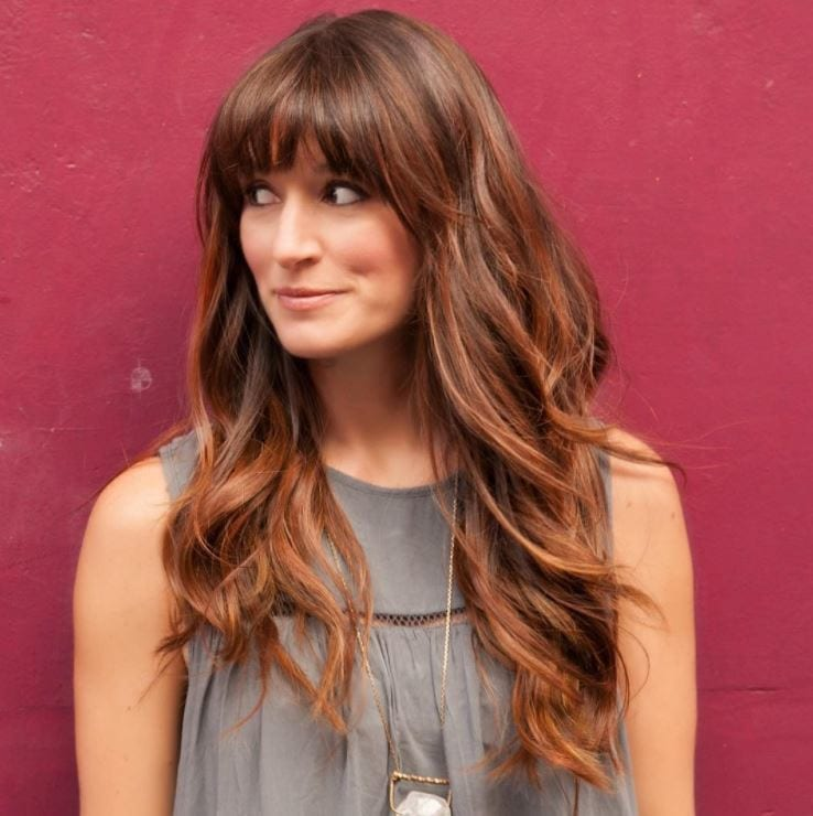 Face shapes - long light to medium hair with full fringe