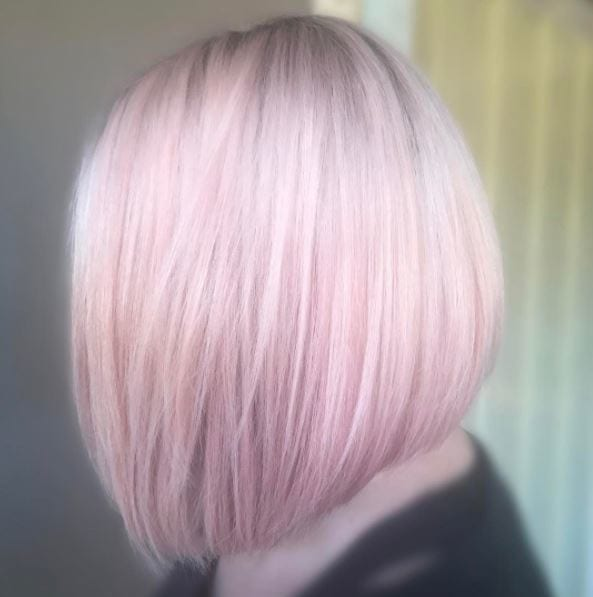 Pink champagne-inspired hair by Instagram christineazzopardi