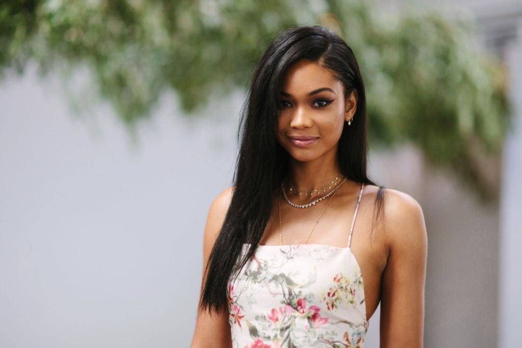 Prom hairstyles for black girls 10 pretty princess worthy dos to try black hairstyles for prom chanel iman with long sleek hair swept to the side urmus Images