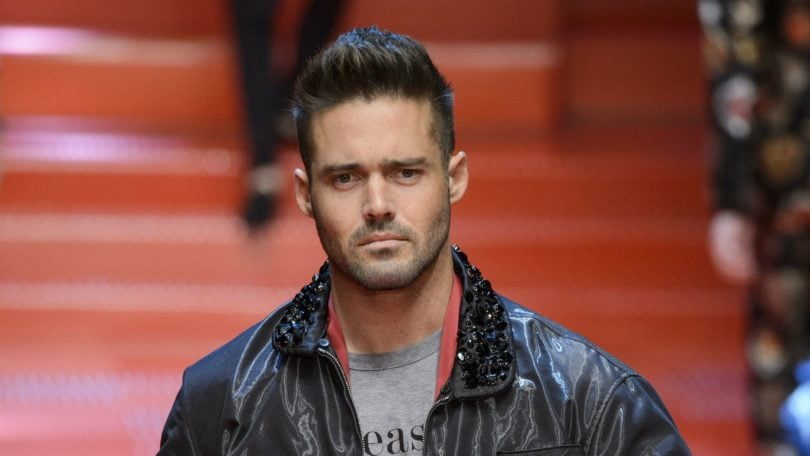 made in chelsea reality star spencer matthews walking the runway at dolce and gabbana