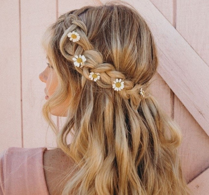 Half Up Half Down Braided Wedding Hairstyles: 30 Best Half Up, Half Down Prom Hairstyles