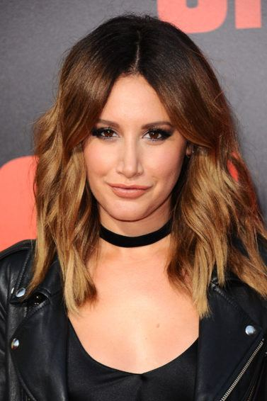 ashley tisdale with dark brown hair