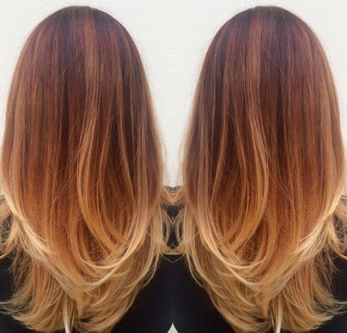 Red Highlights 9 Fiery Shades Thatll Spruce Up Your Current Hair