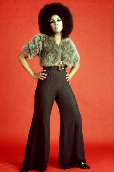 world afro day: picture of marsha hunt with big afro hairstyle in the 70s