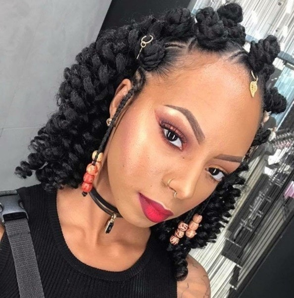 Bantu Knots Out On Natural Hair Pinterest