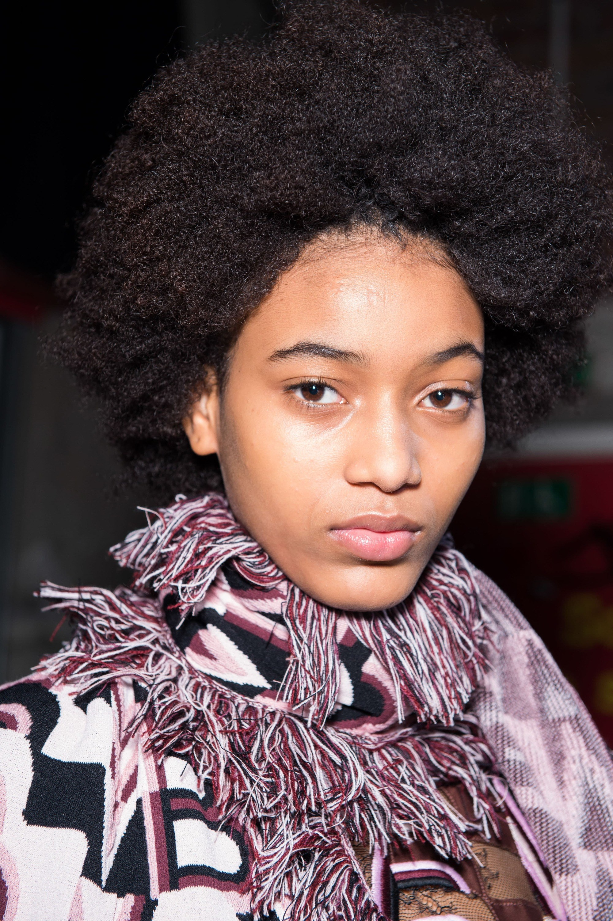 Afro hair model hair porosity
