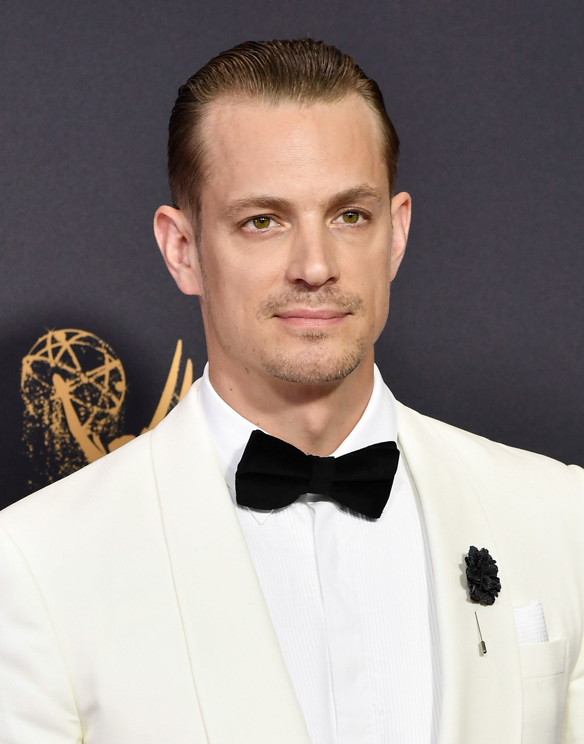 Emmy Awards 2017: Joel Kinnaman with wet look slicked back brown hair