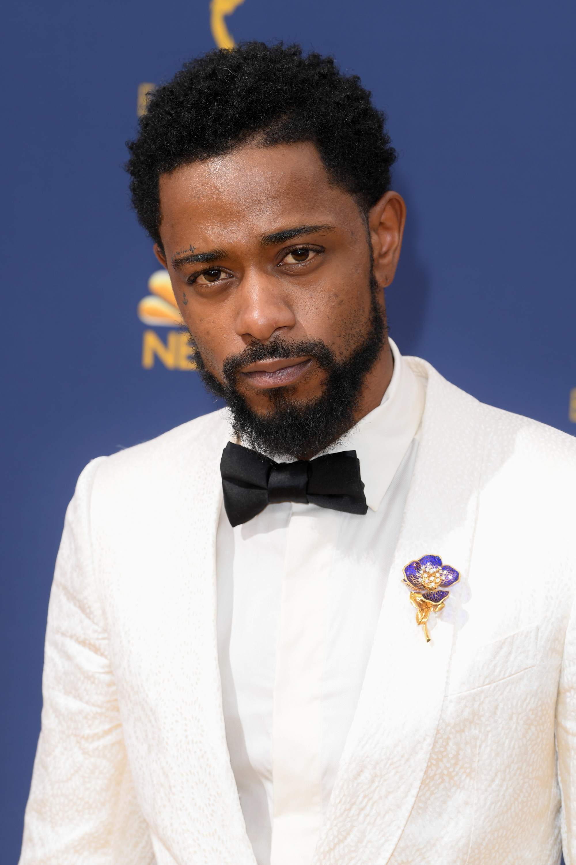 Get Out actor Lakeith Stanfield at the Emmy Awards 2018 with